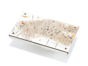 NY回路地図 名刺入れ  白 【東京回路線図A5クリアファイルをプレゼント】