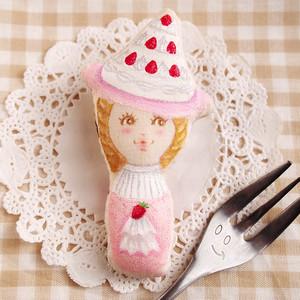 スイーツ女子のブローチ(デコレーションケーキ・ホワイト)