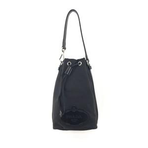 PRADA プラダ ナイロン ハンドバッグ 巾着 ミニバッグ ロゴ ブラック vintage ヴィンテージ オールド