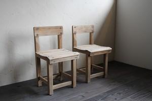 2脚セットの学童椅子 チェア 古家具