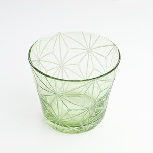 東京切子(花切子)グラス 千代紙 緑