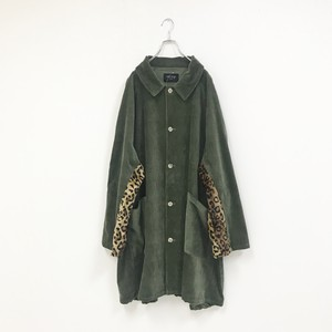 MIX CORDUROY COAT(KHAKI)