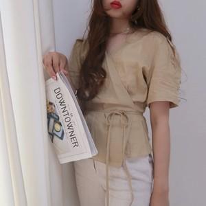 【即納】Girly wrap tops