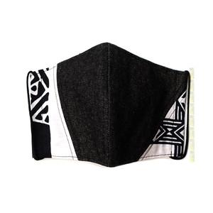 M24/デニム・アフリカ布&★アイスコットン襦袢生地のマスク