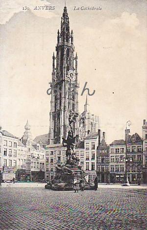 古絵葉書エンタイア「大聖堂」(1907年)