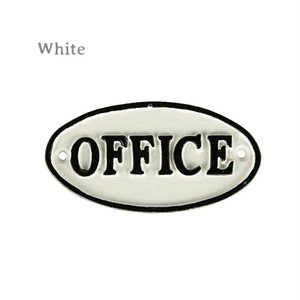 """【S455-176-OF】Iron oval sign """"OFFICE"""" #サイン #アイアン #アンティーク #ヴィンテージ"""