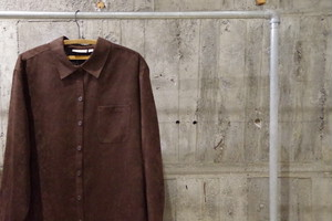 Deadstock croft&barrow fake suede punching shirt