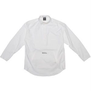 100A PULLOVER BAND COLLAR SHIRT *BIG SILHOUETTE