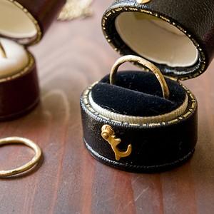MARTINE K18 ゴールドリング 月の指輪【m036】