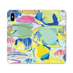 【iPhoneケース/手帳型】たくさん海水魚