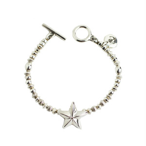 CONSIGLIERE/コンシリエーレ Lucky star silver beads bracelet-A