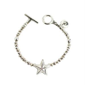 STEAD HIGH/ステディハイ Lucky star silver beads bracelet-A