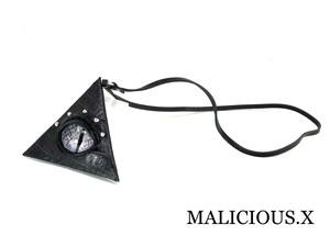 reptelis(D)eye triangle coin case / gray(crocodile)
