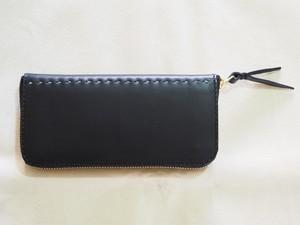 コの字ファスナーの定番長財布 / wallet 漆黒