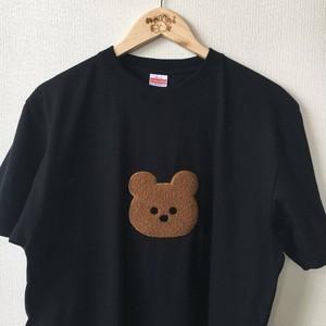 もこもこくまTシャツ 黒