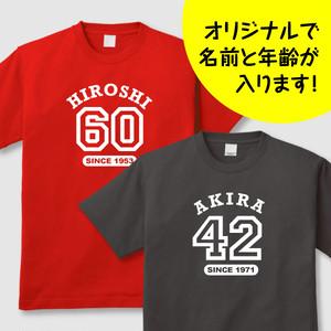 bt-001 アメカジ風の誕生日Tシャツ