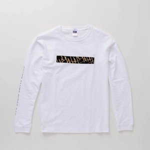 L/S T-Shirt BOX WAVES White × Beige