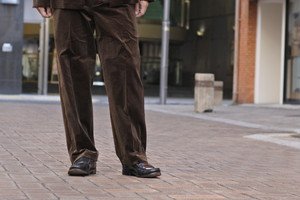 【Phlannèl】Cotton Velveteen Easy Trousers(Men's)