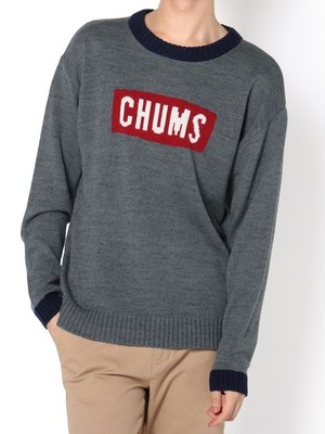 CHUMS チャムス CYCLONE KNIT CREW TOP カラー:H/GRAY