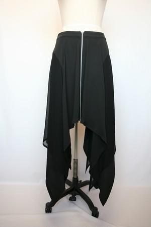 191A502AーA色 ローウエストフレアースカート