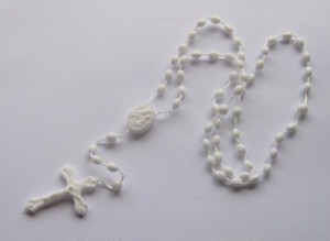 TheDelight COLOR ROSARIO PENDANT WHITE