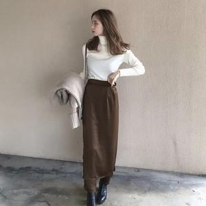 vintage satin【skirt】PT/brown