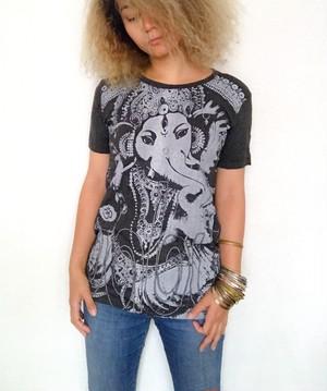 ガネーシャTシャツ・ブラック(Sサイズ)