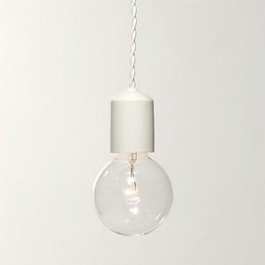 Socket Lamp Wh Gloss|陶器 白ツヤ