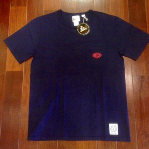 "Felco / フェルコ | "" CHEST LOGO RUBBER PRINT "" POCKET Tee - ITALIAN NAVY"