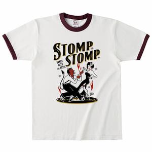 STOMP STOMP リンガーTシャツ バーガンディ