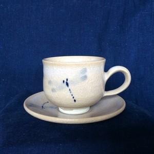 【雪舟焼】コーヒーカップ/とんぼ