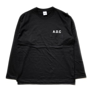slogan long sleeve tee black