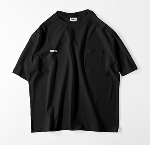 BRAND LOGO BIG POCKET Tee BLACK