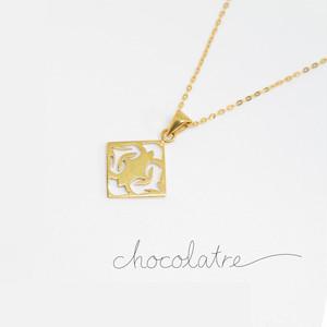 chocolatre「ボンボン」ゴールドペンダント