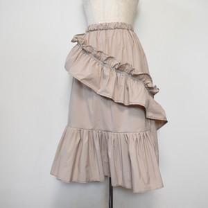 nusumigui ピンクベージュフリルスカート