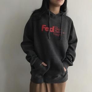 フェデックス ビッグサイズロゴパーカー ミックスグレー [FedEx]