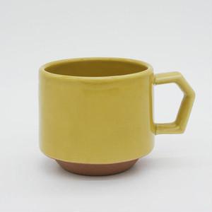 CHIPS stack mug. SOLID COLOR mustard
