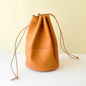 Arts & Crafts - Carlos Grove Leather Draw Strings Pouch / M - タン