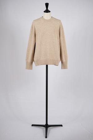 【cantáte】crew neck sweater-beige