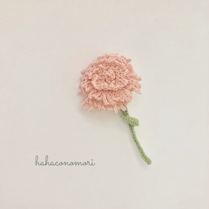 母の日に♡カーネーションのブローチ ピンク
