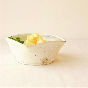 加藤仁志「粉引の角鉢小」