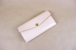 JAPAN LANSUI DESIGN 名入れ対応 ヌメ革手作り手縫い 長財布 コイン入れ付き スマートフォン収納可 品番7854435FG
