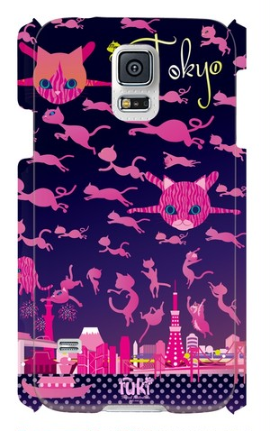 """GALAXY S5ケース """"Mews and the city TOKYO"""""""