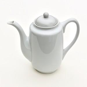 [KR717] 九谷の白 ティーポットM/ Kutani White Tea Pot M/ Showa Era
