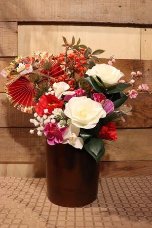 アーティフィシャルフラワーお正月用アレンジメント2造花/アートフラワー