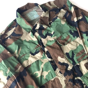 U.S.ARMY : 80's woodland camo BDU jacket (used)
