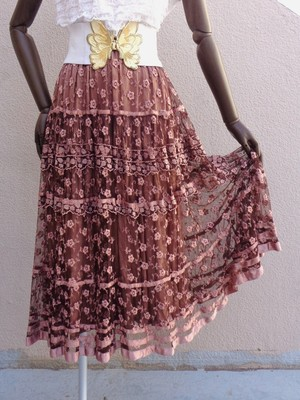 Tulle lace skirt チュールレーススカート