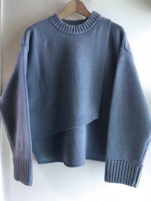 【60%off】BRISEMY Cashmere wool layered knit ブライズミー カシミヤウールレイヤードニット