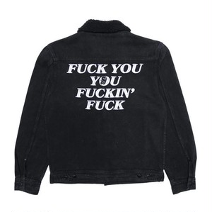 RIPNDIP - Fucking Fuck Denim Sherpa Jacket (Black Wash)