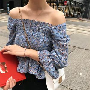 【トップス】ファッション可愛い春夏小柄スカタップスリーブスクエアネックシャツ
